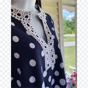 Southern Charm Detailed Navy Top (M)